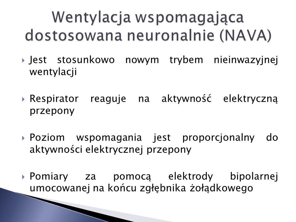 Jest stosunkowo nowym trybem nieinwazyjnej wentylacji Respirator reaguje na aktywność elektryczną przepony Poziom wspomagania jest proporcjonalny do aktywności elektrycznej przepony Pomiary za pomocą elektrody bipolarnej umocowanej na końcu zgłębnika żołądkowego