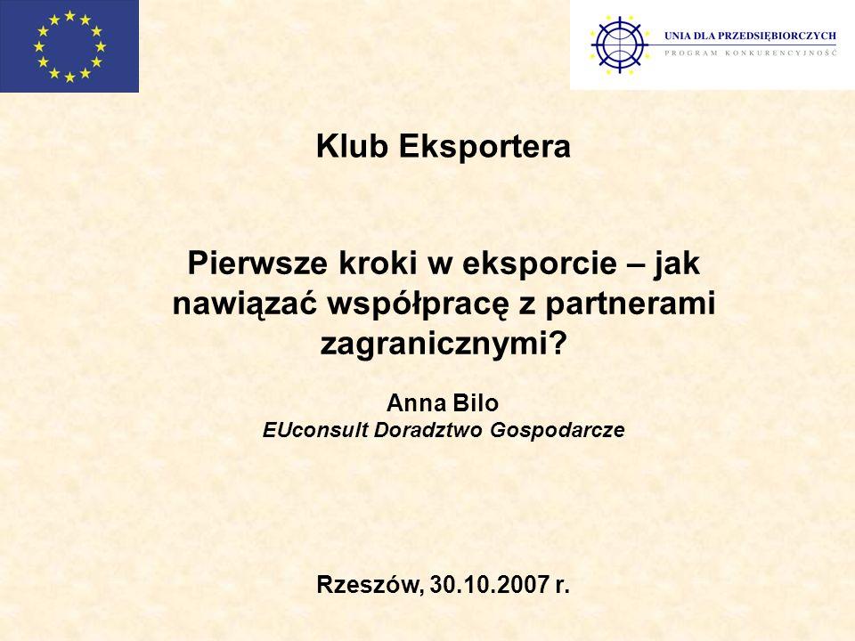 Źródła informacji o rynkach eksportowych Instytuty Badań Rynkowych np.