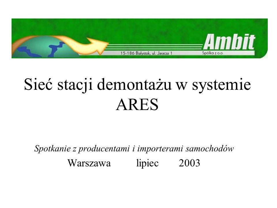 2 W skrócie Grupa ARES powstała w 2000 roku w celu stworzenia możliwości odbioru pojazdów zgodnego z Dyrektywą 2000/53/EC.