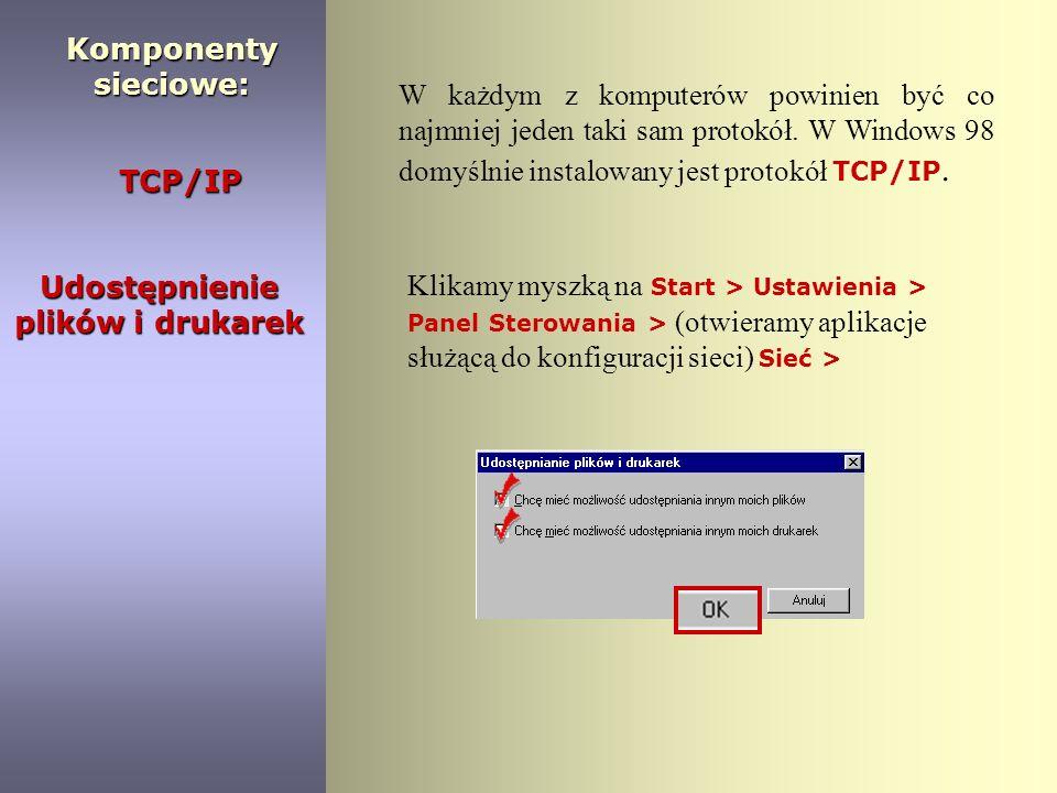 1. 1. Klikamy myszką : Start > Ustawienia > Panel Sterowania Instalacja : 2. 2. Następnie klikamy 2 razy na ikonę: 3. 3. W kolejnym oknie przechodzimy
