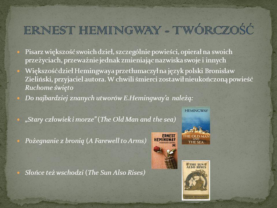 Pisarz większość swoich dzieł, szczególnie powieści, opierał na swoich przeżyciach, przeważnie jednak zmieniając nazwiska swoje i innych Większość dzi
