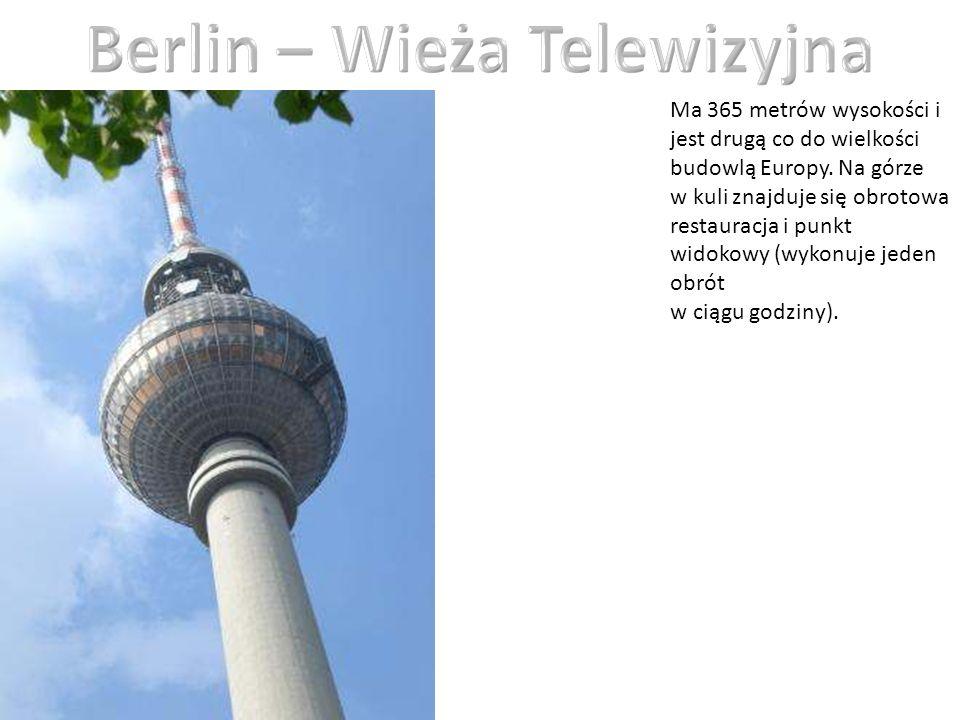 Ma 365 metrów wysokości i jest drugą co do wielkości budowlą Europy. Na górze w kuli znajduje się obrotowa restauracja i punkt widokowy (wykonuje jede