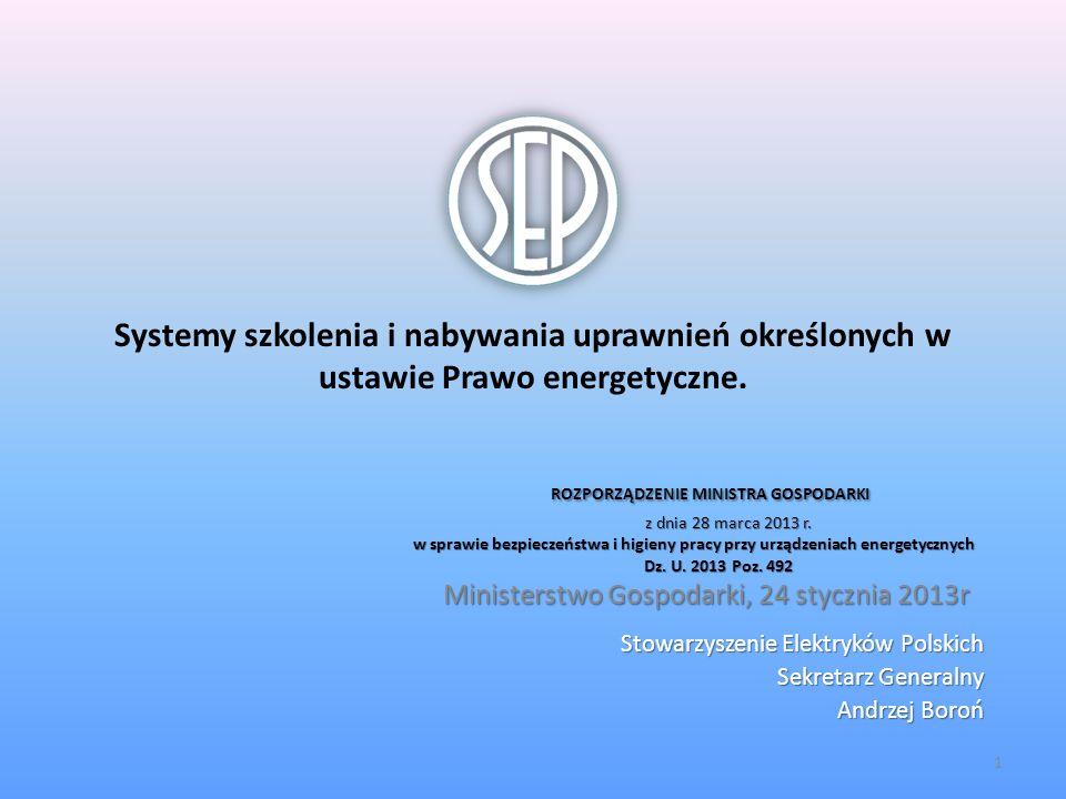 ROZPORZĄDZENIE MINISTRA GOSPODARKI z dnia 28 marca 2013 r.