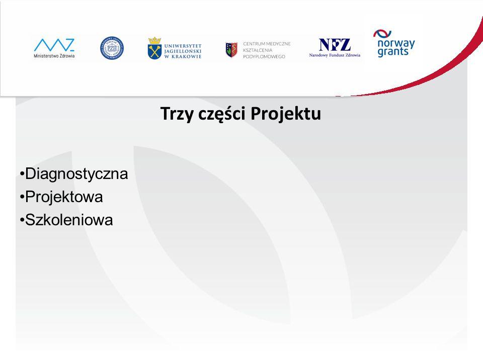 Trzy części Projektu Diagnostyczna Projektowa Szkoleniowa