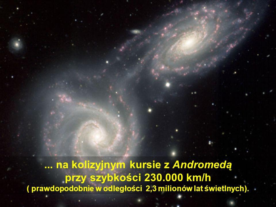 Droga mleczna unosi się swobodnie we wszechświecie, w ruchu ciągłego poszerzania się Uniwersum.