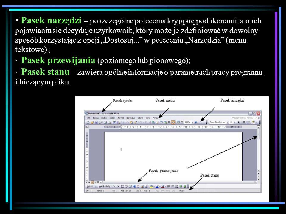Uruchamianie programu Po uruchomieniu programu otwiera się okno programu z pustym dokumentem, który można wypełniać tekstem.
