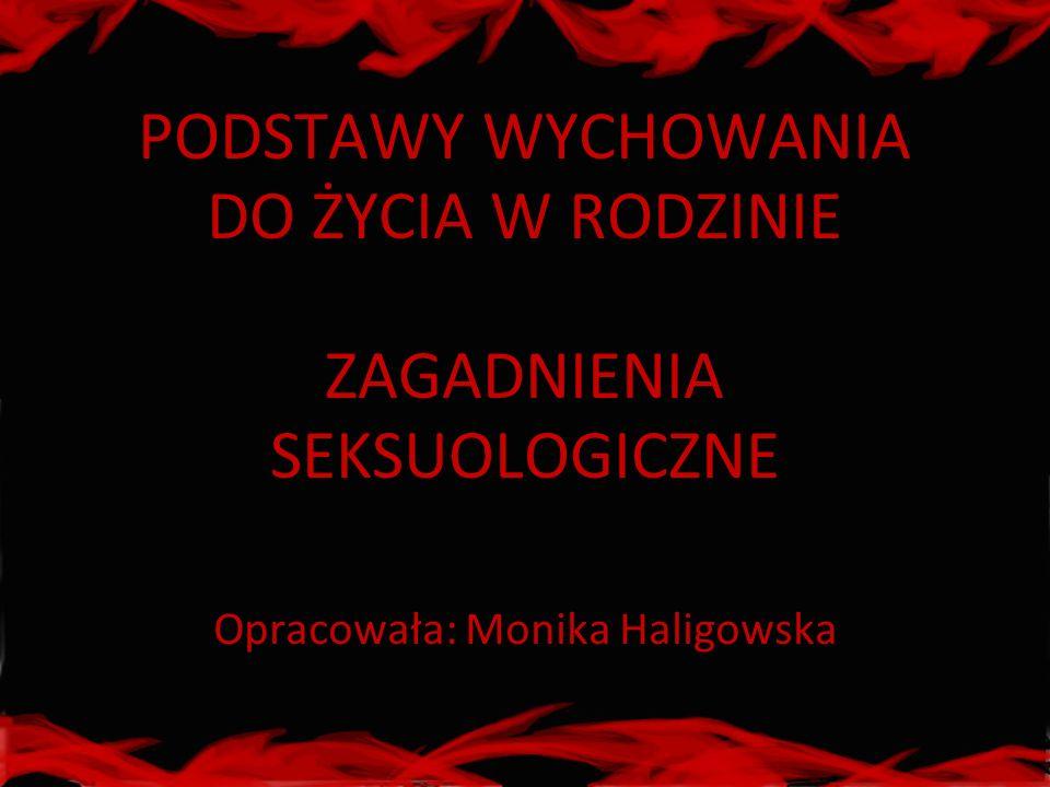 PODSTAWY WYCHOWANIA DO ŻYCIA W RODZINIE ZAGADNIENIA SEKSUOLOGICZNE Opracowała: Monika Haligowska