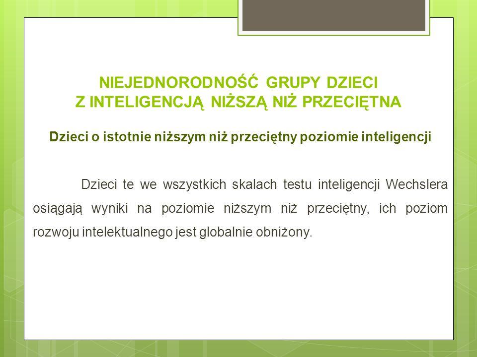 CZĘSTOŚĆ WYSTĘPOWANIA OSÓB Z INTELIGENCJĄ NIŻSZĄ NIŻ PRZECIĘTNA Zgodnie z rozkładem krzywej Gaussa, częstość występowania osób z inteligencją borderline w populacji wynosi 14 proc.