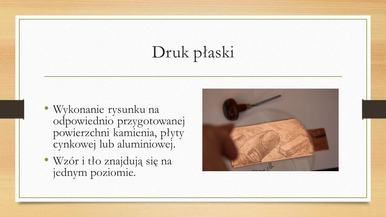 Drzeworyt Odbitka z matrycy wykonanej z drewna.