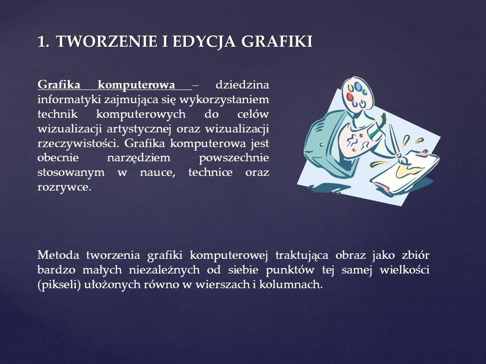 Grafika rastrowa ( bitmapowa Grafika rastrowa ( bitmapowa) - prezentacja obrazu za pomocą pionowo- poziomej siatki odpowiednio kolorowanych pikseli na monitorze komputera, drukarce lub innym urządzeniu wyjściowym.
