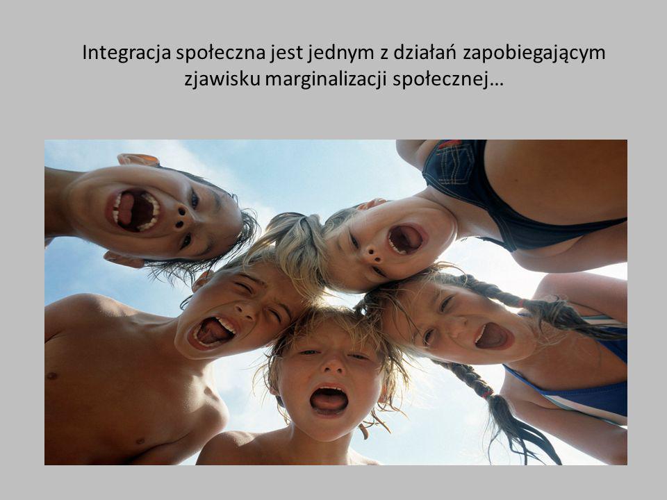 Integracja społeczna jest jednym z działań zapobiegającym zjawisku marginalizacji społecznej….