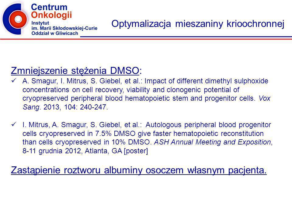 Działalność naukowa Projekty naukowe: Ocena roli czynnościowej grasicy w modelu autologicznej transplantacji krwiotwórczych komórek macierzystych z poprzedzającą terapią mieloablacyjną – grant Narodowego Centrum Nauki, nr 2011/03/B/NZ6/06308, kierownik: S.