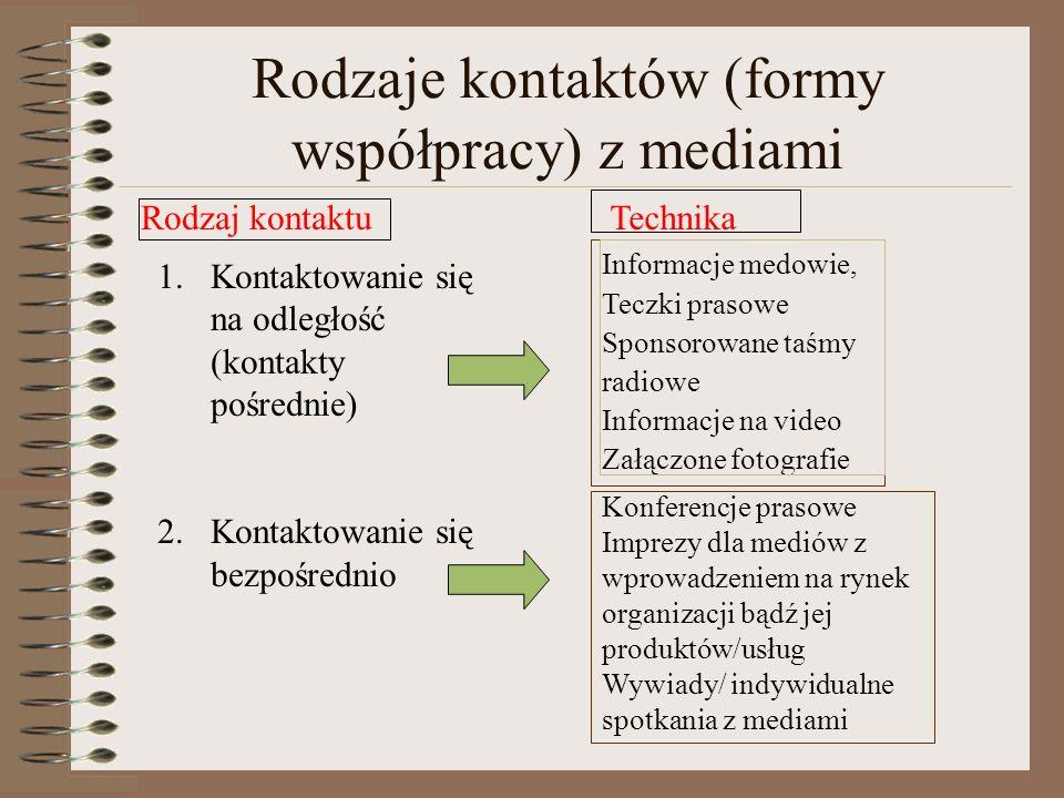Media nie reklamują, media informują Misją dziennikarza jest informacyjna służba społeczeństwu Główne kryterium selekcji oparte jest na pytaniu, czy p