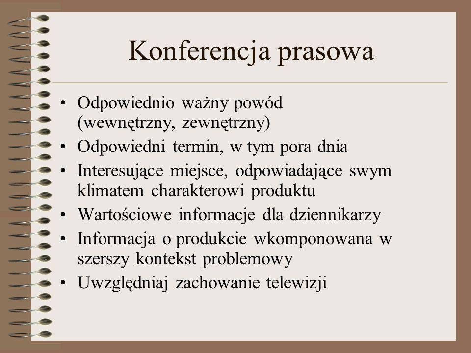 Zasady przygotowywania tekstu dla prasy Wygląd komunikatu Odstępy Papier Oznaczenie autora i daty Krótkie paragrafy Styl