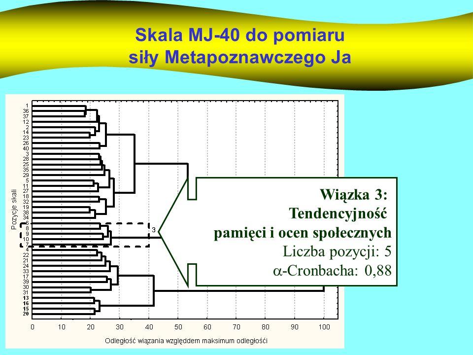 Przykładowe pozycje skali 6.