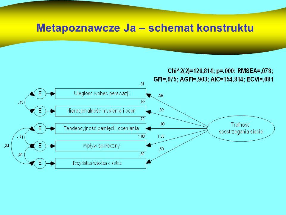 Metapoznawcze Ja – schemat konstruktu