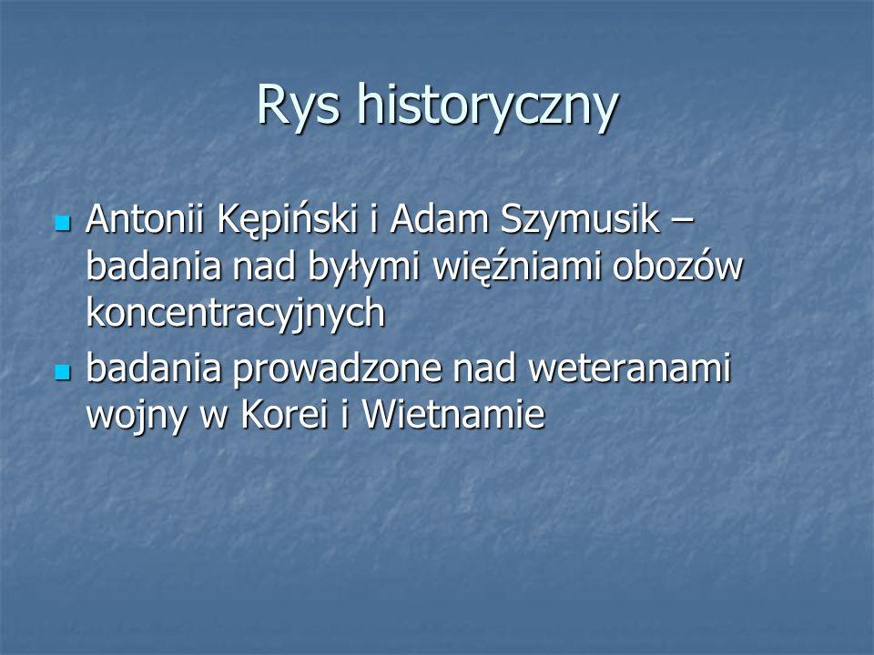 Rys historyczny Antonii Kępiński i Adam Szymusik – badania nad byłymi więźniami obozów koncentracyjnych Antonii Kępiński i Adam Szymusik – badania nad