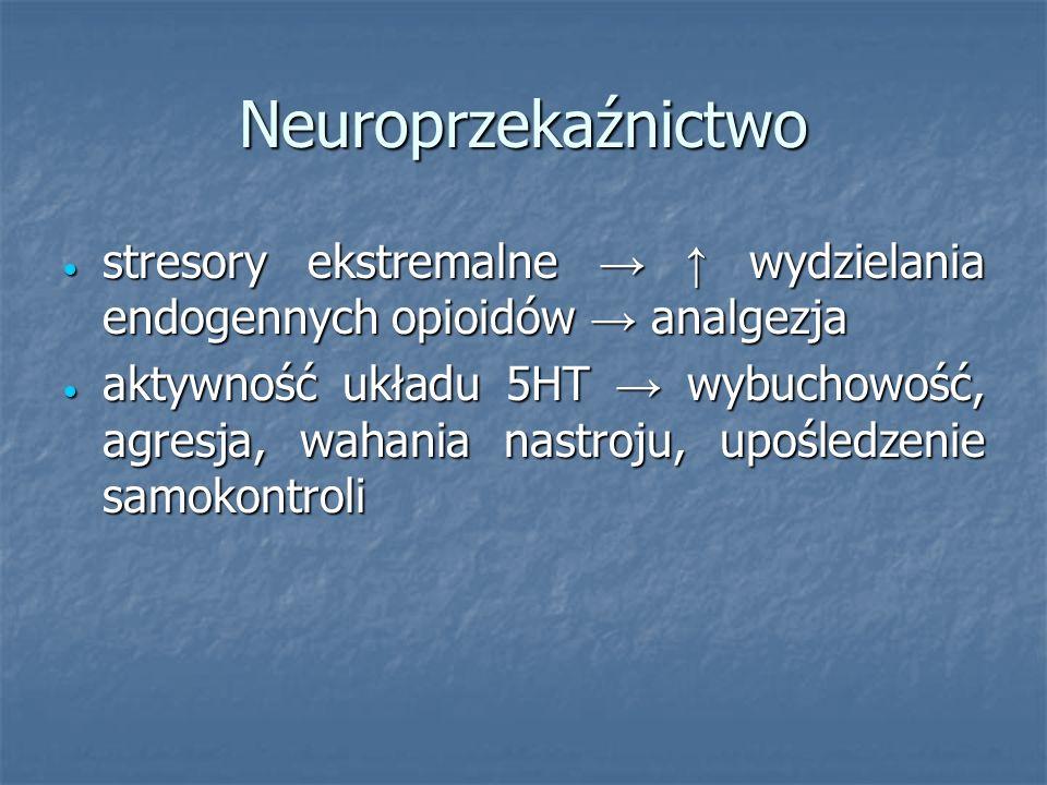 Neuroprzekaźnictwo stresory ekstremalne wydzielania endogennych opioidów analgezja stresory ekstremalne wydzielania endogennych opioidów analgezja akt