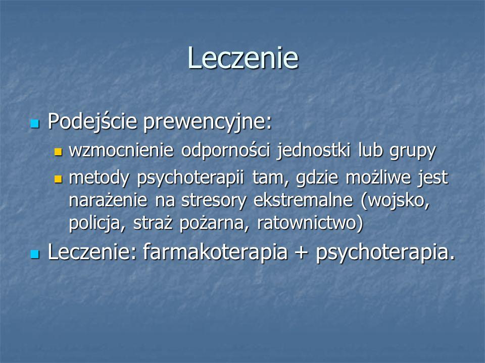 Leczenie Podejście prewencyjne: Podejście prewencyjne: wzmocnienie odporności jednostki lub grupy wzmocnienie odporności jednostki lub grupy metody ps
