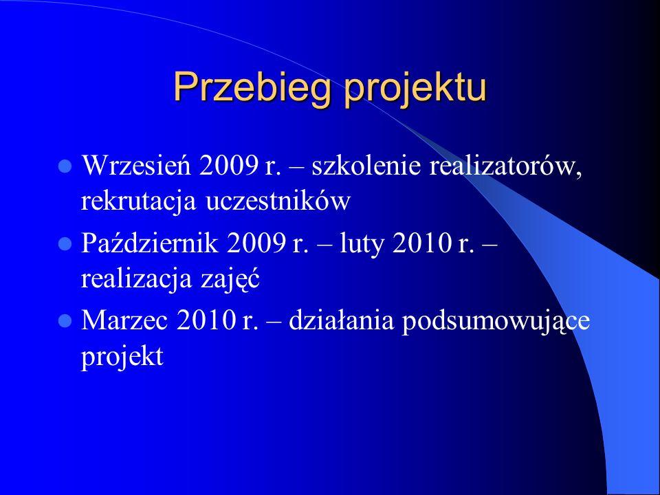 Przebieg projektu Wrzesień 2009 r.