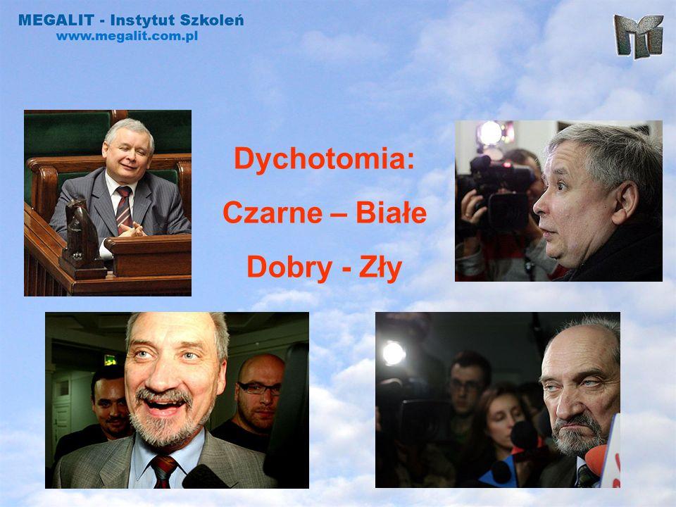 Dychotomia: Czarne – Białe Dobry - Zły