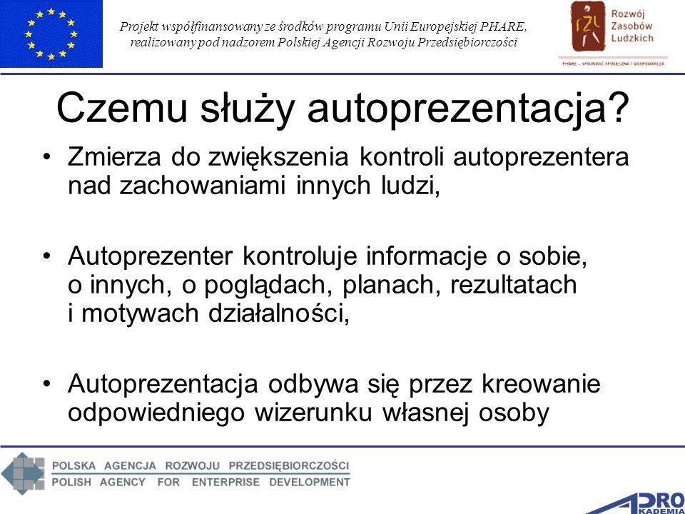 Projekt współfinansowany ze środków programu Unii Europejskiej PHARE, realizowany pod nadzorem Polskiej Agencji Rozwoju Przedsiębiorczości Czemu służy