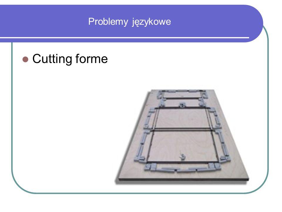 Problemy językowe Cutting forme