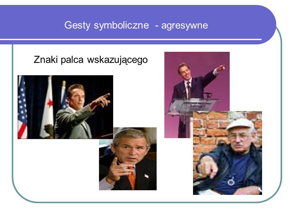 Gesty symboliczne - agresywne Znaki palca wskazującego