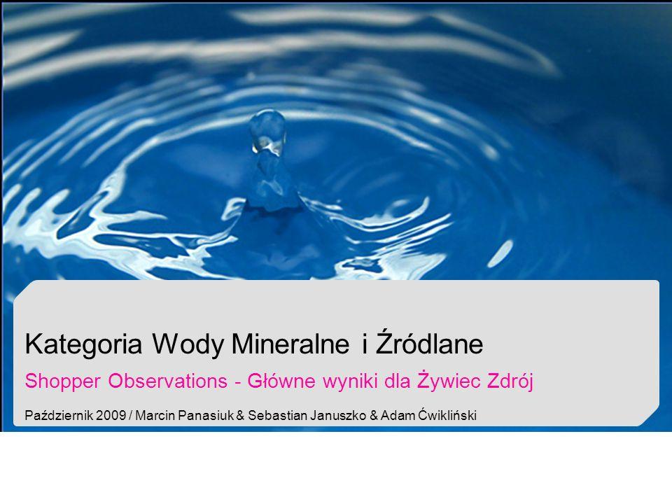 Kategoria Wody Mineralne i Źródlane Shopper Observations - Główne wyniki dla Żywiec Zdrój Październik 2009 / Marcin Panasiuk & Sebastian Januszko & Ad