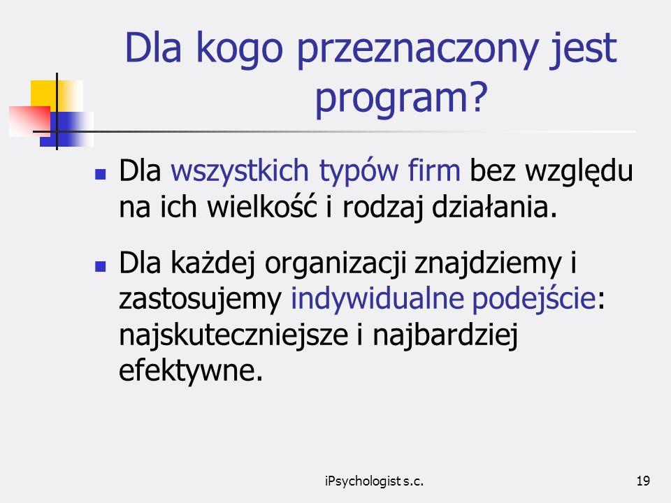 iPsychologist s.c.19 Dla kogo przeznaczony jest program.
