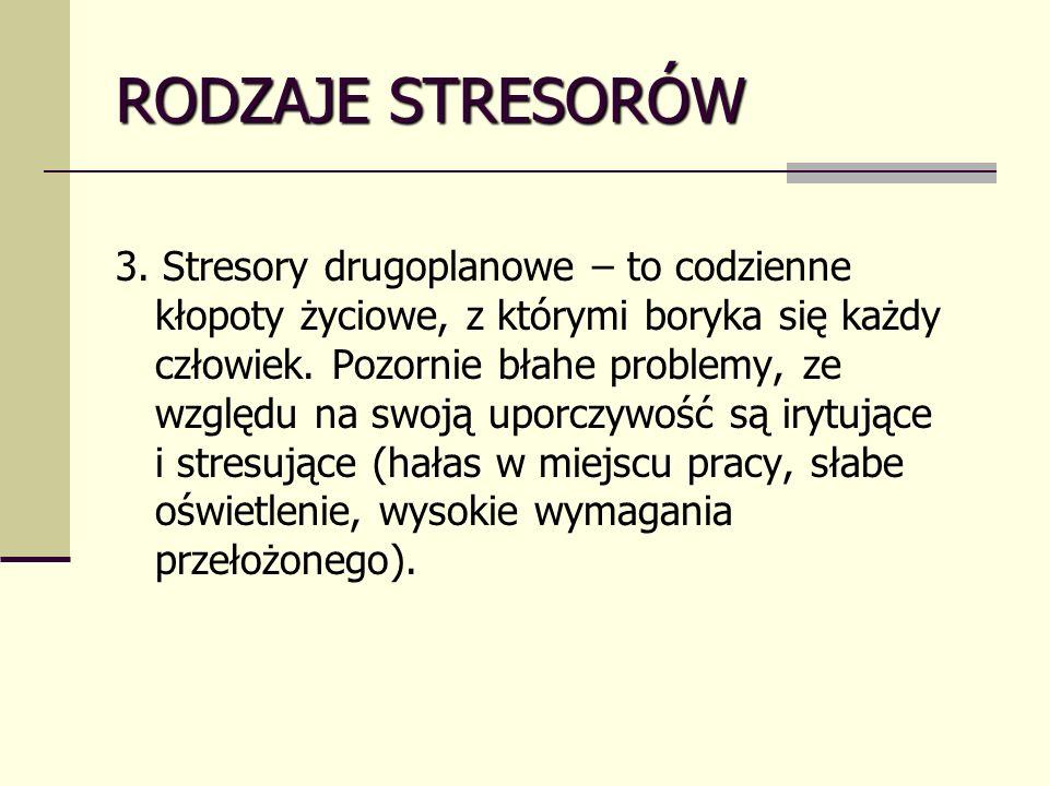 RODZAJE STRESORÓW 3.