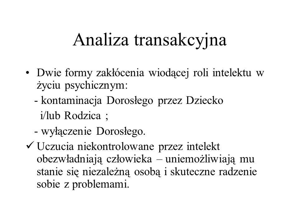 Kontaminacja Dorosłego Wtargnięcie stanu Rodzic lub/i stanu Dziecko w obszar granic Dorosłego.