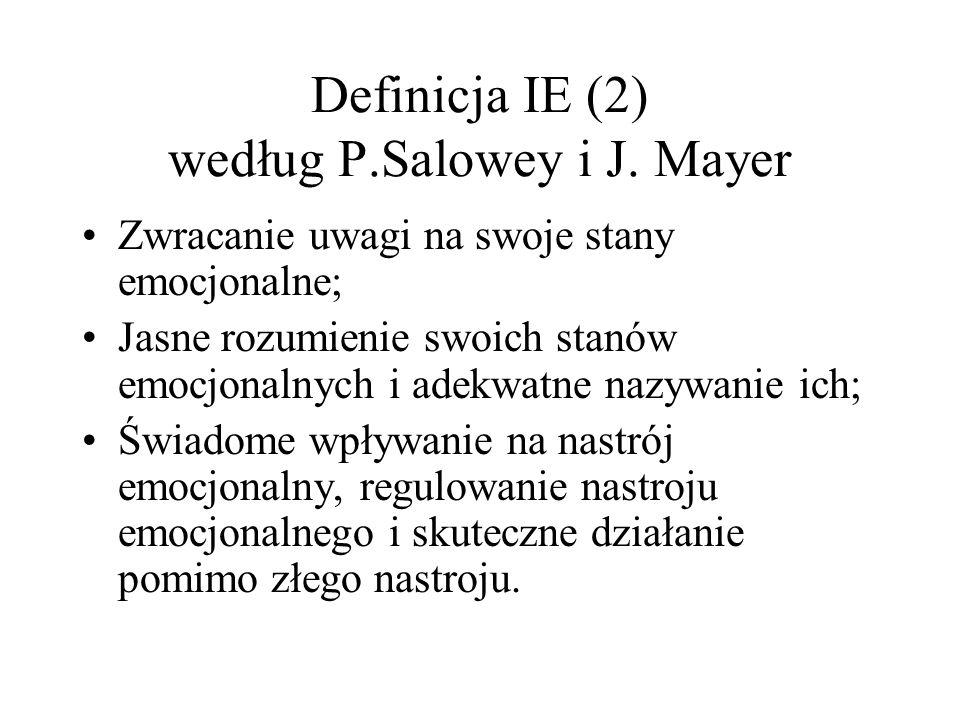 Definicja IE (2) według P.Salowey i J.