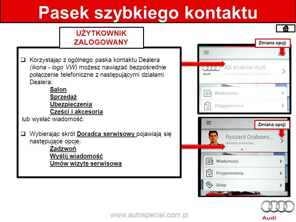 Facebook Szybkie przejście bezpośrednio na funpage Dealera. www.autospecial.com.pl