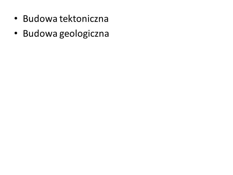 Budowa tektoniczna Budowa geologiczna
