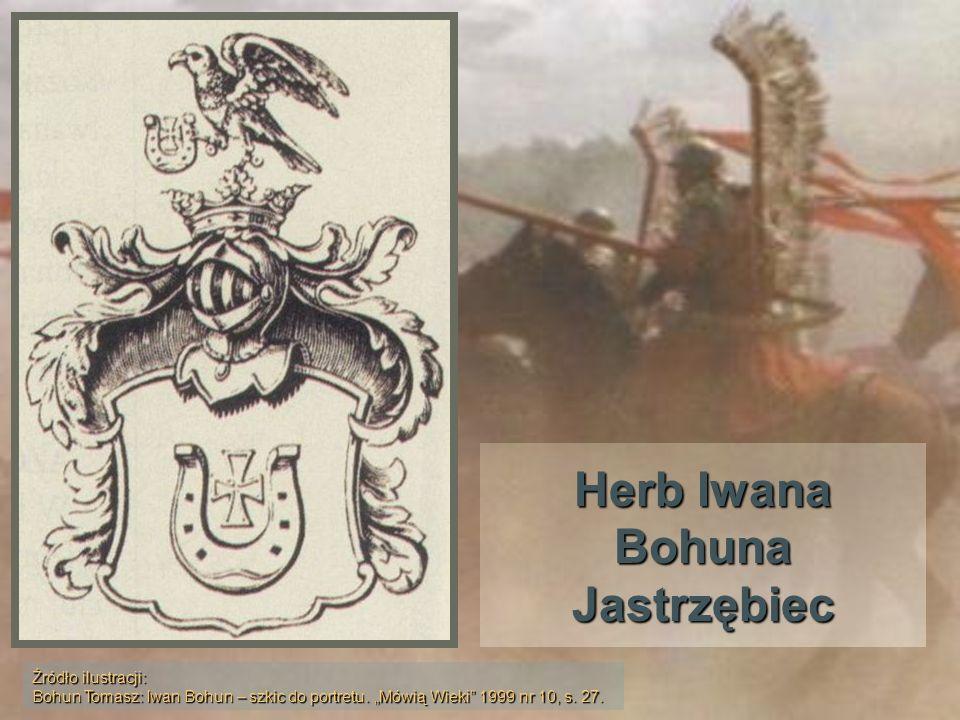 Herb Iwana Bohuna Jastrzębiec Źródło ilustracji: Bohun Tomasz: Iwan Bohun – szkic do portretu. Mówią Wieki 1999 nr 10, s. 27.