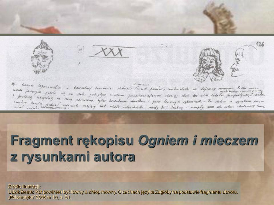 Piotr Stachiewicz: Portret Pana Wołodyjowskiego Źródło ilustracji: Henryk Sienkiewicz Trylogia w ilustracjach.