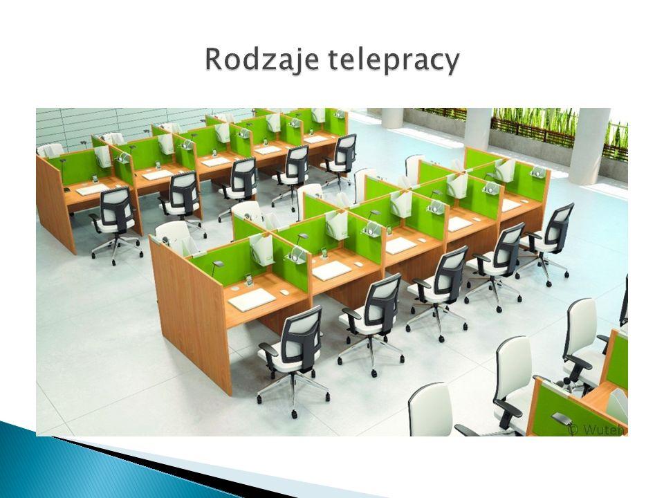 Telepraca domowa Telepraca nomadyczna (mobilna) Telepraca zamorska Telecentra Telechatki Telewioski