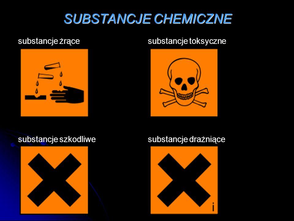 SUBSTANCJE CHEMICZNE substancje żrącesubstancje toksyczne substancje szkodliwesubstancje drażniące