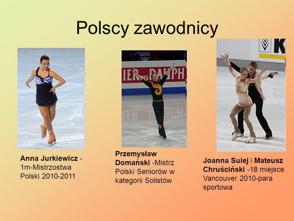 Polscy zawodnicy Anna Jurkiewicz - 1m-Mistrzostwa Polski 2010-2011 Przemysław Domański -Mistrz Polski Seniorów w kategorii Solistów Joanna Sulej i Mat