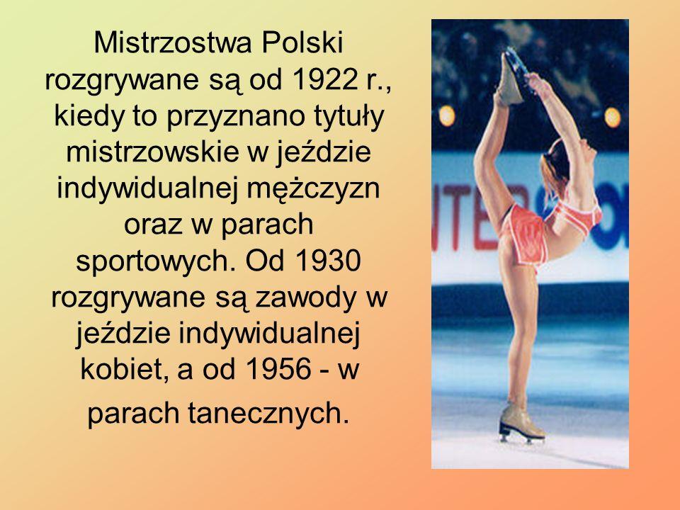 Mistrzostwa Polski rozgrywane są od 1922 r., kiedy to przyznano tytuły mistrzowskie w jeździe indywidualnej mężczyzn oraz w parach sportowych. Od 1930