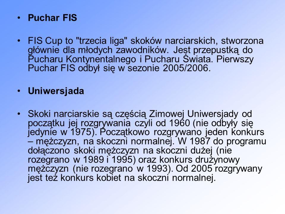 Puchar FIS FIS Cup to trzecia liga skoków narciarskich, stworzona głównie dla młodych zawodników.