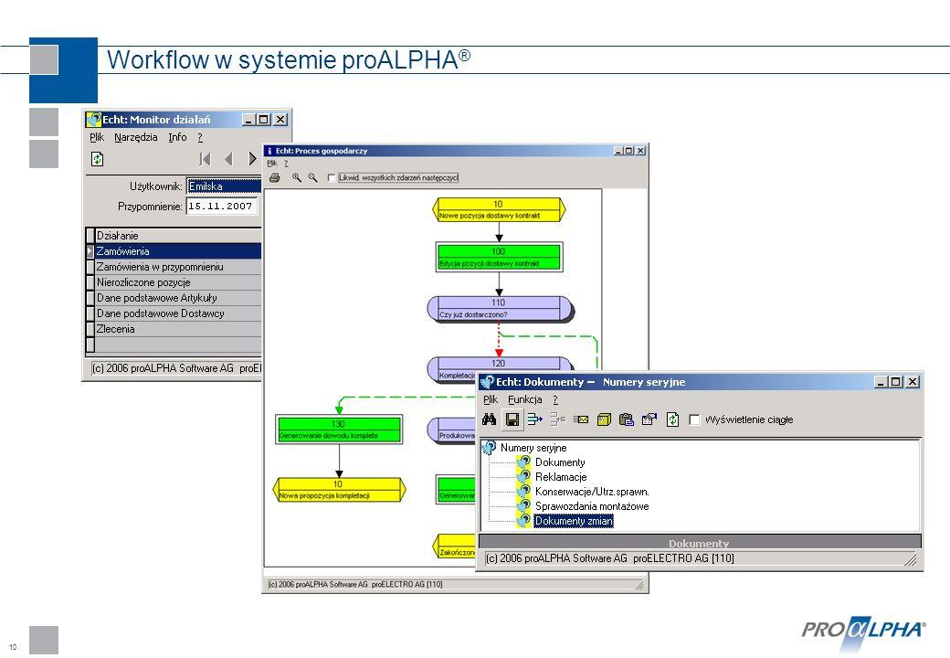 10 Workflow w systemie proALPHA ®