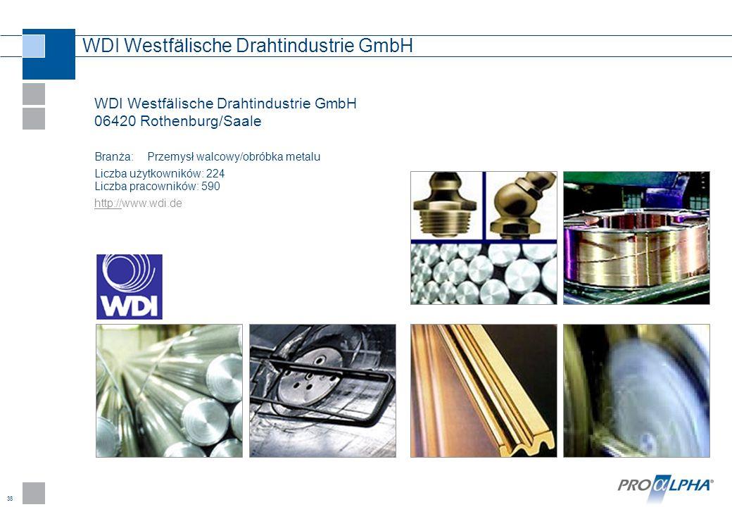 38 WDI Westfälische Drahtindustrie GmbH WDI Westfälische Drahtindustrie GmbH 06420 Rothenburg/Saale Branża:Przemysł walcowy/obróbka metalu Liczba użyt