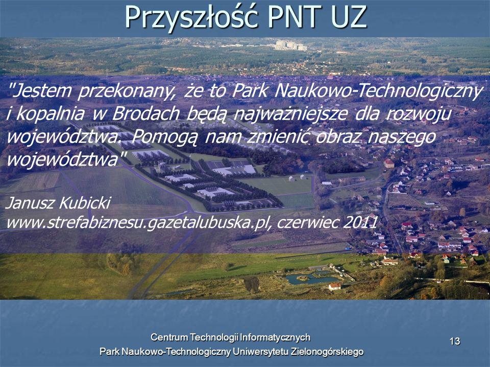 Centrum Technologii Informatycznych Park Naukowo-Technologiczny Uniwersytetu Zielonogórskiego 13