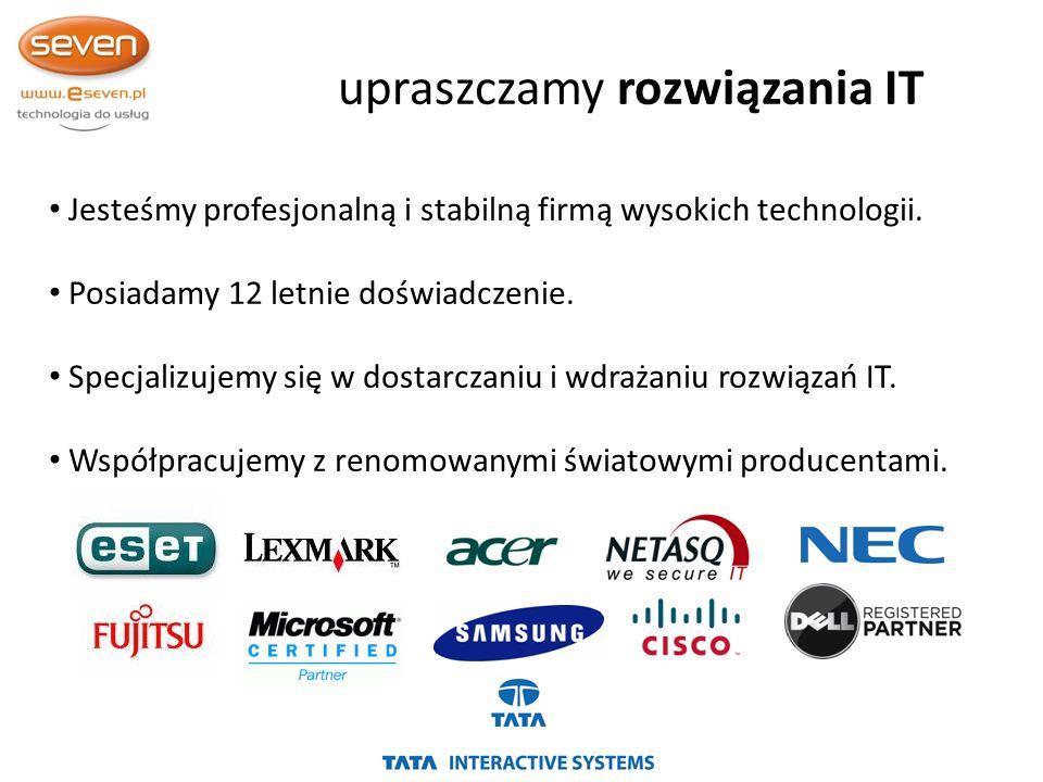 Jesteśmy profesjonalną i stabilną firmą wysokich technologii.