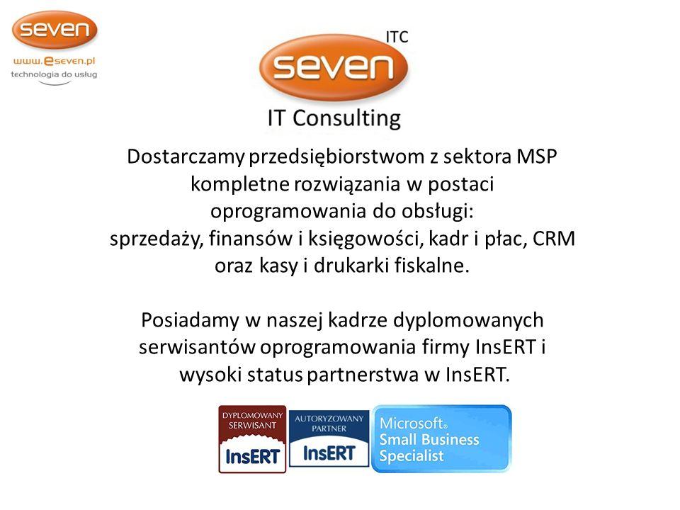 Dostarczamy przedsiębiorstwom z sektora MSP kompletne rozwiązania w postaci oprogramowania do obsługi: sprzedaży, finansów i księgowości, kadr i płac, CRM oraz kasy i drukarki fiskalne.