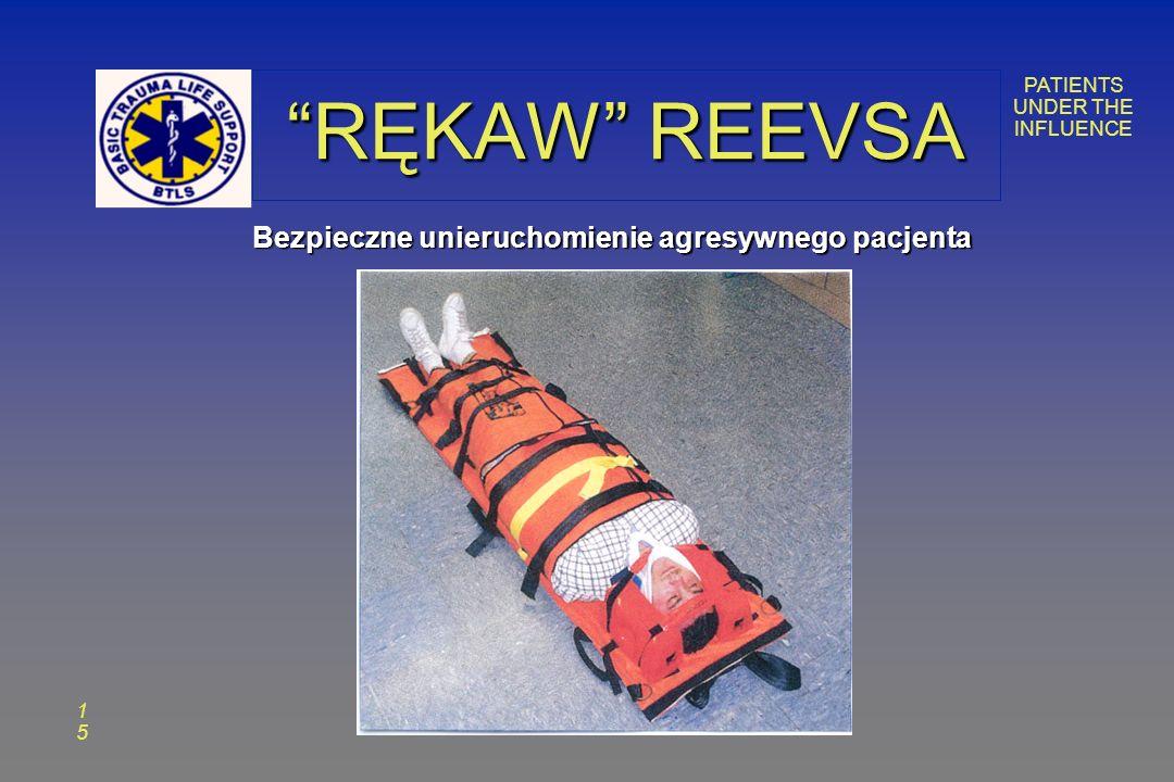 PATIENTS UNDER THE INFLUENCE 1515 RĘKAW REEVSA Bezpieczne unieruchomienie agresywnego pacjenta