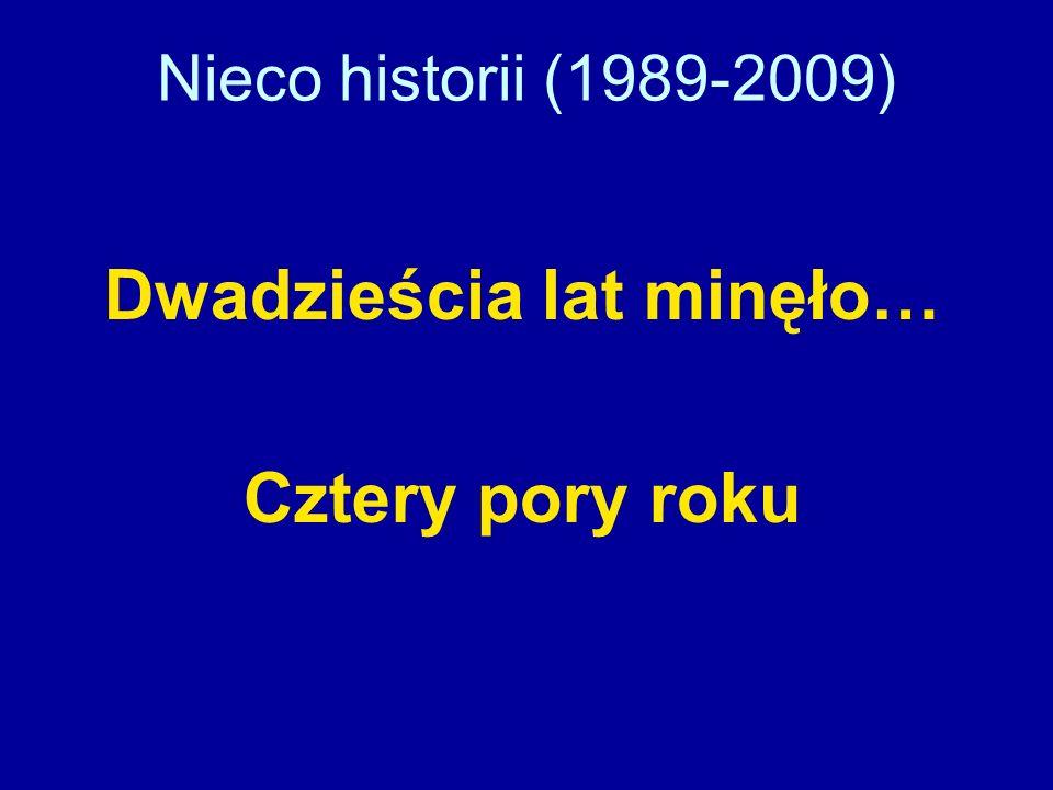 Nieco historii (1989-2009) Dwadzieścia lat minęło… Cztery pory roku
