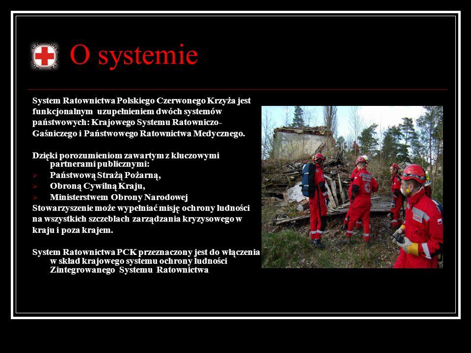 O systemie System Ratownictwa Polskiego Czerwonego Krzyża jest funkcjonalnym uzupełnieniem dwóch systemów państwowych: Krajowego Systemu Ratowniczo- G